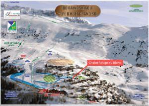 overzicht van Villard Reculas dat de centrale ligging van Chalet Rouge ou Blanc in Villard Reculas laat zien