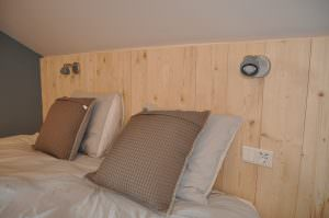 At each bed there are two USB sockets to charge phones and tablets